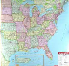 eastern united states road map