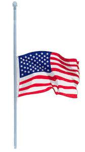 american flag half staff