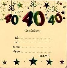 40 birthday invitation