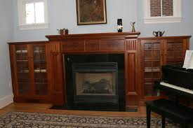 bookcases fireplace