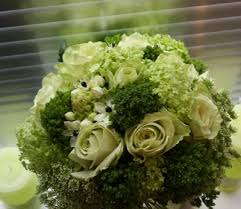 green rose bouquets