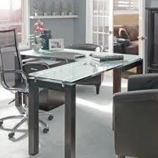 l shaped glass desks