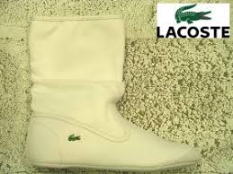 lacoste white boots