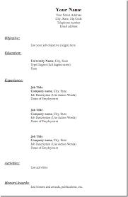 free resume form