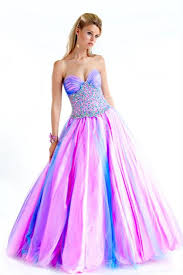 pink and green prom dresses