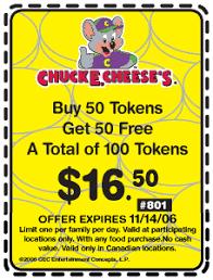 chucky cheese coupon