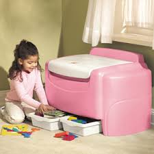 pink toy boxes