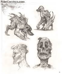 sketches of creatures