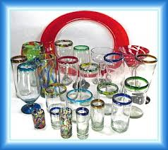 hand blown glassware