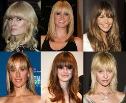 celebrity hair fringe
