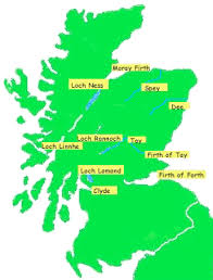 map of scotland rivers