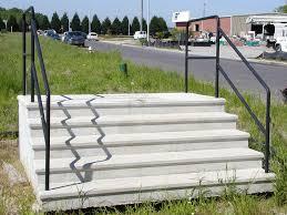 poured concrete steps