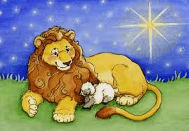 lion and lamb clipart