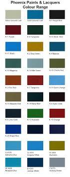 paint colour range
