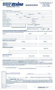 formato solicitud de credito