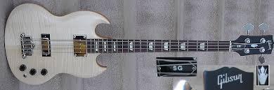 gibson sg bass white