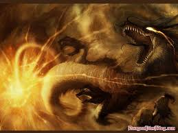 dragons on fire