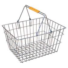 metal shopping basket