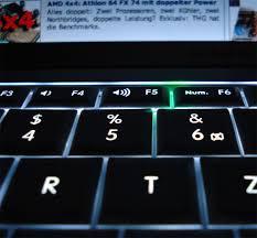 beleuchtete tastatur macbook