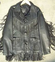 leather jacket fringe