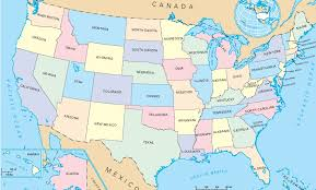 map of the usa with states and capitals