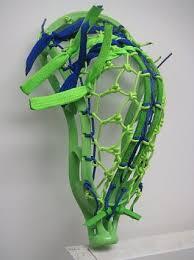 custom strung lacrosse heads