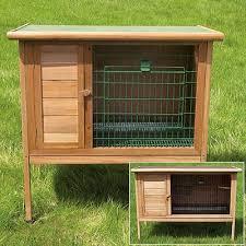 inside rabbit cages