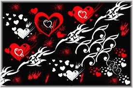 3d hearts wallpaper