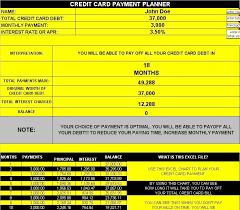 credit card planner