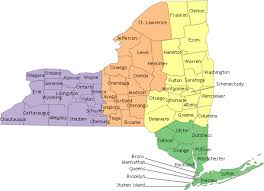 a map of new york state