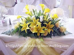 flower arrangements table