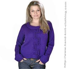hand knitting sweater