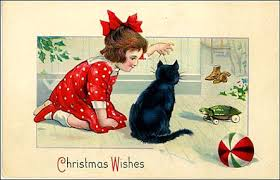 cats christmas cards