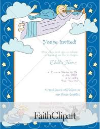 baptism christening invitation