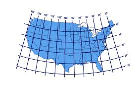 latitude and longitude map of the united states