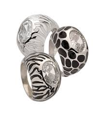animal print rings