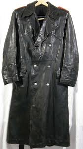leather greatcoat