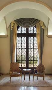 curved window curtains