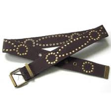 brown studded belts