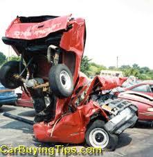 crashes car