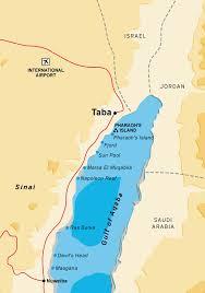 egypt map taba