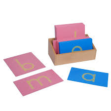 montessori sandpaper letters