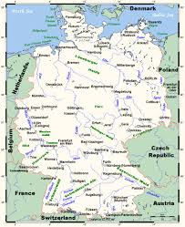 map of germany with rivers