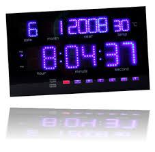 blue led clocks