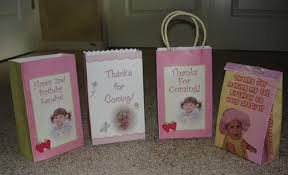 birthday candy bags