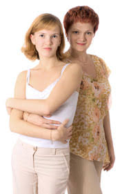 women inserting tampons