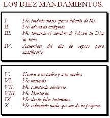 10 mandamientos de la ley de dios