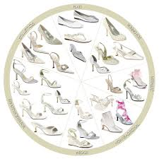 glass wedding shoes
