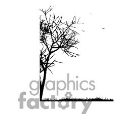 black and white tree clipart