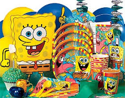 sponge bob birthday parties